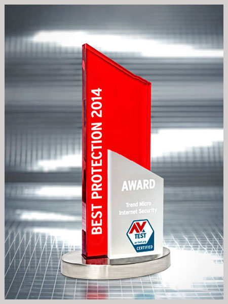 "2014-2015: Received AV-TEST's ""Best Protection"" award for Trend Micro Internet Security"